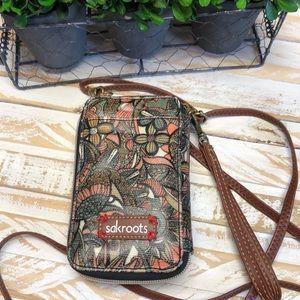Sakroots Crossbody/Wristlet Wallet & Phone Holder